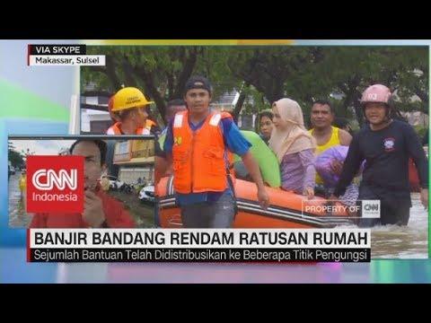 Banjir Bandang Rendam Ratusan Rumah di Makassar