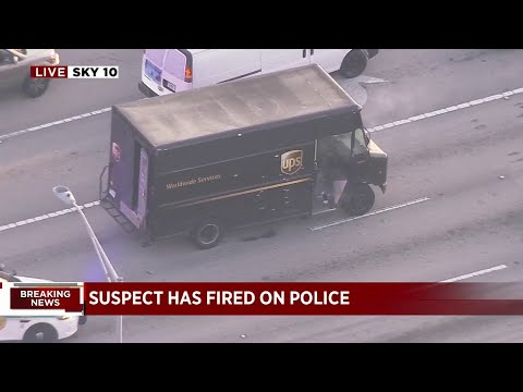 Police pursuit ends in gunfire after armed robbery