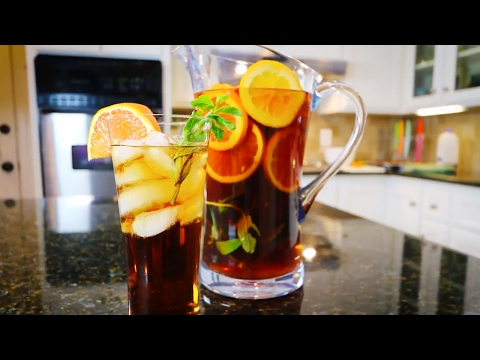 Iced Tea with Orange & Mint