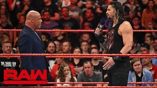 Kurt Angle denies Roman Reigns another Money in the Bank Qualifying Match: Raw, May 14, 2018 - Video Youtube