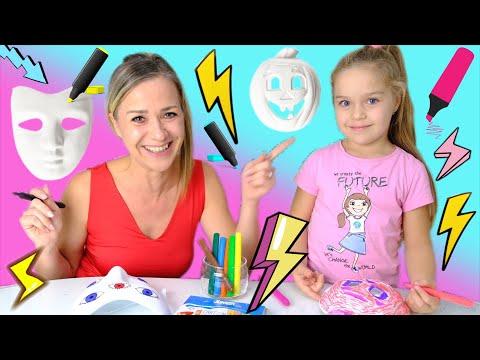 3 Marker Halloween Maska Challenge! Arija VS Mama i specijalni žiri!