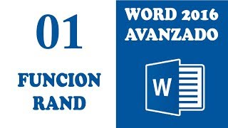 WORD AVANZADO 2016 FUNCION RAND   CLASE 1