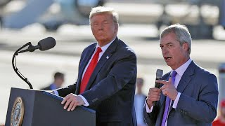 Nigel Farage delivers surprise speech at Donald Trump rally in Arizona