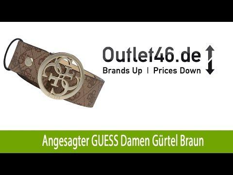 Angesagter GUESS Damen Gürtel Braun | Outlet46.de