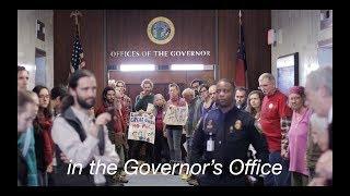 Climate Disobedience at North Carolina Governor's Office  - Atlantic Coast Pipeline (ACP)