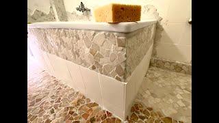 Badewanne mit Mosaik verkleiden - Anleitung: Wandmosaik verfugen