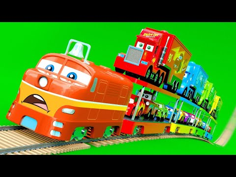 Cars & Trucks on Train - And other Little Cars change color wrong Wheels, Color Garage stories