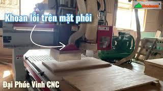 Máy cnc trung tâm 2.5d WM-1325RB | Máy cnc tải nặng (Router + khoan cắt) chuyên làm gỗ thịt