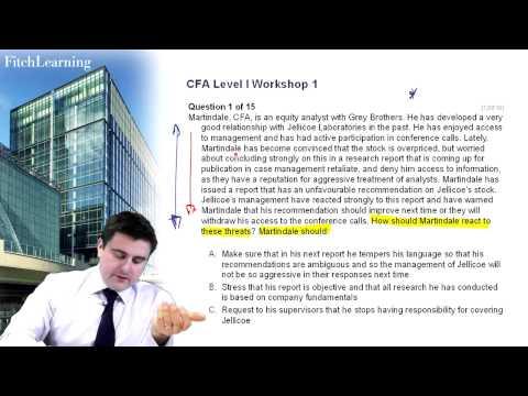 CFA Level 1 exam practice - Question 1 - Ethics and Professional ...