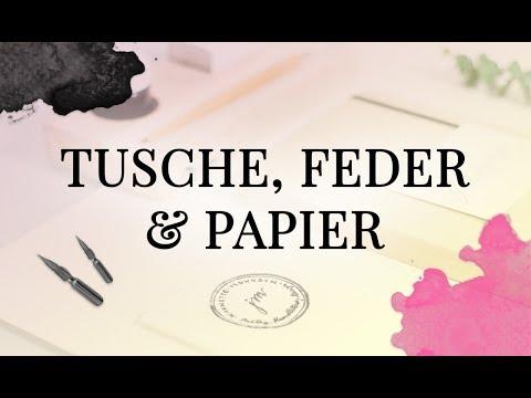 Kalligrafie für Anfänger - Tusche, Feder und Papier
