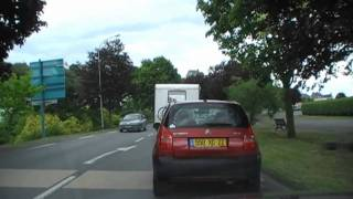 preview picture of video 'Driving Along Avenue du Général de Gaulle, Binic, Brittany, France  21st July 2010'