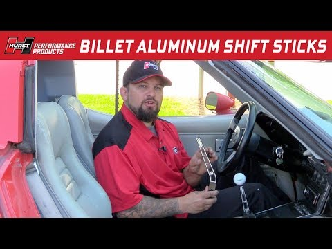 Hurst Billet Aluminum Shifter Sticks - Straight and Lay-Back Style
