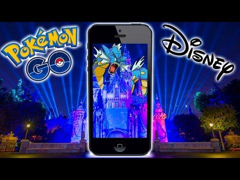 Video Pokemon Go in Disneyland! BEST PLACE ON EARTH FOR POKEMON GO!