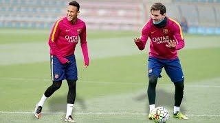 Training Skills – Leo Messi & Neymar Jr