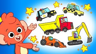Cars for Kids | Car Cartoons | Learn Trucks and Street Vehicles | Compilation | Club Baboo Car Wash