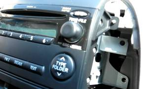 How to Remove Radio / CD Changer /  Navigation from 2006 Toyota Sienna for Repair