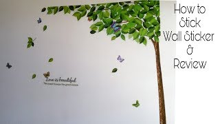 Decals Design -How To Apply Wall Stickers On Wall & REVIEW