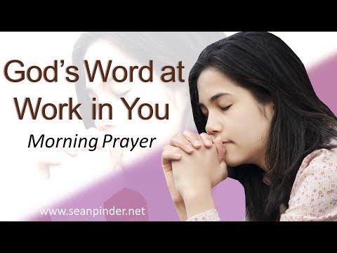 GOD'S WORD AT WORK IN YOU - MATTHEW 8 - MORNING PRAYER | PASTOR SEAN PINDER (video)