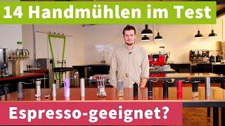 14 Kaffee-Handmühlen unter 100€ im Test – für Filterkaffee UND Espresso?!