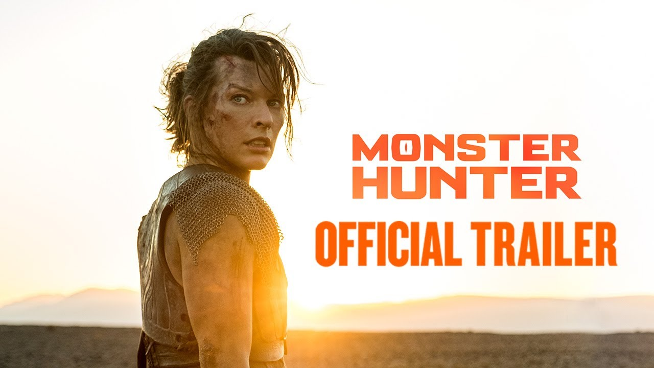 monster hunter movie official trailer black diablos rathalos comic-con 2020 milla jovovich capcom constantin films screen gems sony pictures tencent