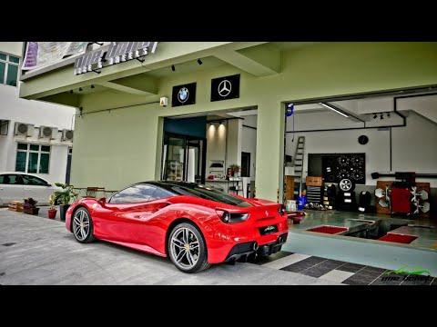 Ferrari 488 GTB Full Fi EXHAUST valvetronic sound X One Belief Tyre & Wheels