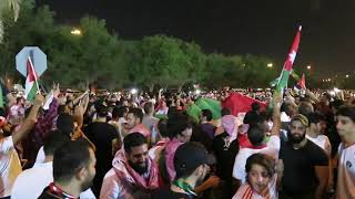 Supporters of Jordan are celebrating the win against Syria at the AFC Asian Cup UAE 2019