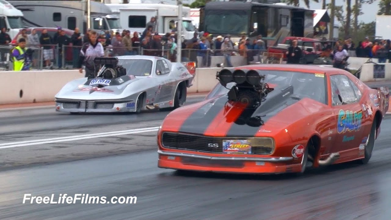 US STREET NATIONALS - RVW, ProNitrous, LDR, Outlaw ProMod, Ultra Street Round 1 Qualifying 2017