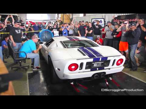 1000 HP Twin Turbo Ford GT Dyno Pull