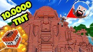 THỬ THÁCH TROLL NOTCH BẰNG 10.000 TNT TRONG MINECRAFT !!!!