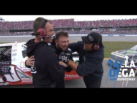 Sauter's block leads to Boyd's first Gander Trucks win | NASCAR at Talladega Superspeedway