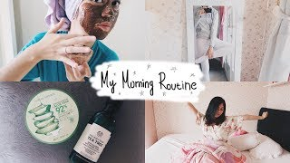 MORNING ROUTINE || 2018 || SKINCARE, BODY CARE, HAIR ROUTINE