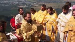 Божественная литургия на вершине горы Бештау