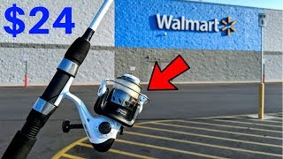 Fishing W/ CHEAPEST Rod/Reel Combo At WALMART (Surprising!)