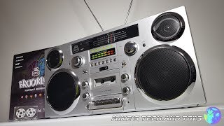 GPO BROOKLYN PORTABLE BOOMBOX / Unboxing & Full Review / Ghetto Blaster