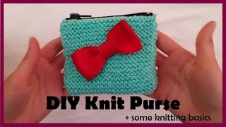 DIY Knit Purse | Knitting Basics