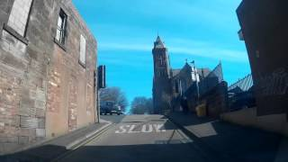 Driving To The Abbey In Arbroath Angus Scotland