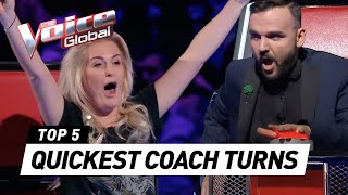 The Voice | QUICKEST COACH TURNS worldwide [PART 2]
