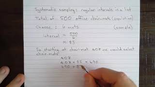 Systematic sampling - small-scale