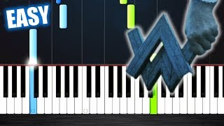 Alan Walker   Darkside   EASY Piano Tutorial By PlutaX
