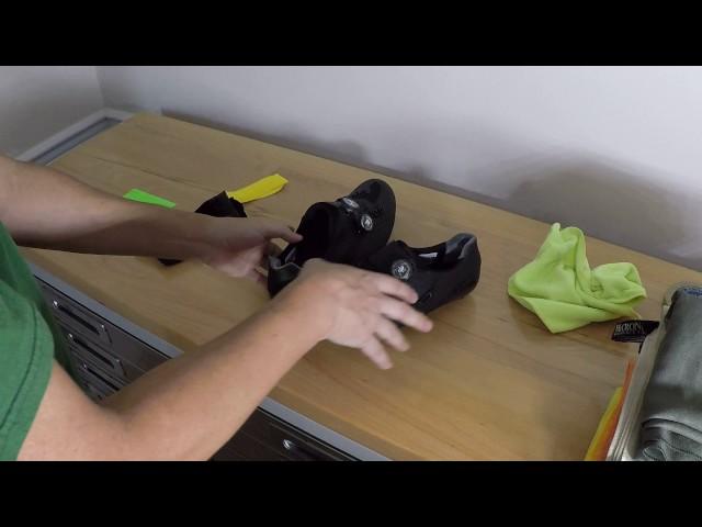 Видео Велотуфли Shimano SH-RC9Y желтые