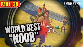 "World Best Free Fire ""NOOB"" Player Solo vs Squad - Garena Free Fire- Total Gaming"