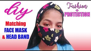How To Make Matching Headband And Face Mask | DIY Turban And Face Mask