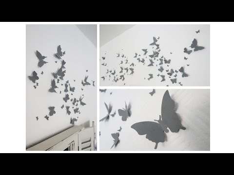 Wanddeko aus Schmetterlingen * Butterfly Wall Decor [eng sub]
