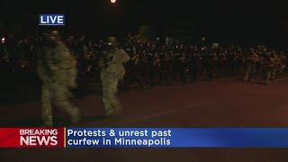 Raw Video: Police Force Moves Into Area Near 5th Precinct