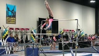Whitney Bjerken | 3rd Level 9 Gymnastics Meet | Snot on the Vault Blood on the Beam
