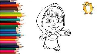 Раскраска для детей ГЕРОИ МУЛЬТИКОВ: Маша и медведь, три кота, мой маленький пони
