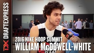 2016 William McDowell-White Nike Hoop Summit Interview - DraftExpress by DraftExpress