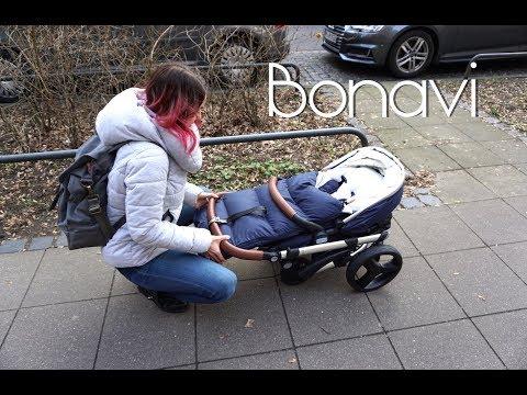 Bonavi Kinderwagen aufklappen & zusammenklappen│Fit Miri
