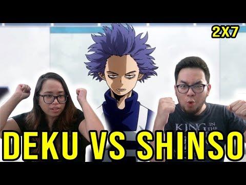 MY HERO ACADEMIA 20 English Dub Season 2 Episode 7 DEKU VS SHINSO REACTION & REVIEW