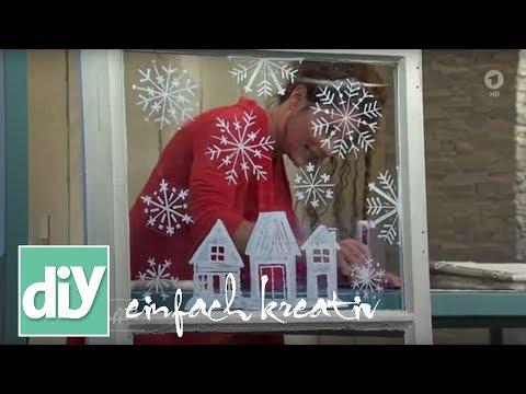 Winterliche Fensterdekoration | DIY einfach kreativ